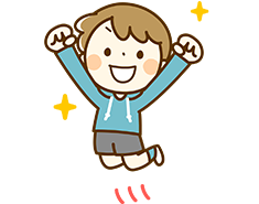 飛び跳ねる園児のイラスト