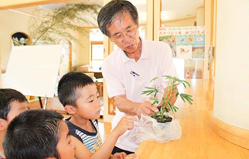 自然の草花や昆虫について、外部講師により実物を用いながら楽しく学びます。